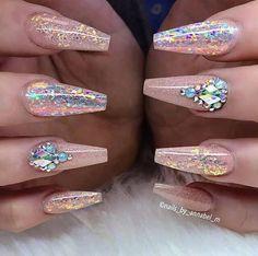 Diamond Nails: 30 Nail Designs with Diamonds- 30 Beautiful Diamond Nail Art Designs Nail Art Designs, Diamond Nail Designs, Diamond Nail Art, Pretty Nail Designs, Rhinestone Nail Designs, Nail Art Rhinestones, Cute Nails, Pretty Nails, My Nails