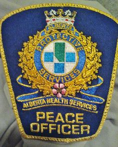 hospital security badges   Photo: AB - AHS v2   Wanted Alberta Patches album   Prairie-Law-Dog