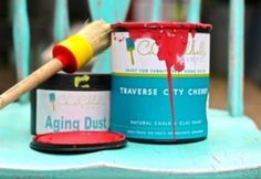 Crackle and distress your furniture Elmer's glue and Chalk Paint! » Debi's Design Diary