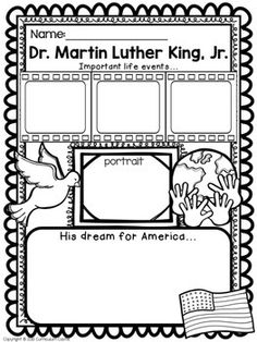 61 Trendy Ideas for black history timeline project martin luther Kindergarten Social Studies, Teaching Social Studies, Teaching Resources, Teaching Ideas, Kindergarten Writing, Kindergarten Worksheets, Mlk Jr Day, Martin Luther Jr, King Jr