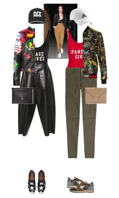 """Linnea Hope & Deanna Love #6400"" by canlui ❤ liked on Polyvore featuring ADRIANA DEGREAS, E L L E R Y, Valentino, 7 For All Mankind, Ivy Park, Gucci, adidas, Givenchy, Alexander Wang and GetTheLook"