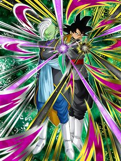 "[Distorted Justice] Goku Black & Zamasu ""My cosmic utopia is but moments away from fulfillment!"" ""A perfect world is at hand!"""