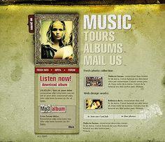 Music Entertainment Flash Templates by Jaguar