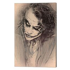 Joker Heath Ledger Sketch Poster   I have it :)