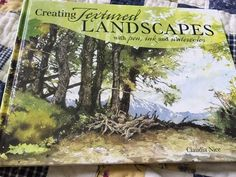 Creating Textured Landscapes with Pen Ink Watercolor by Claudia Nice   eBay
