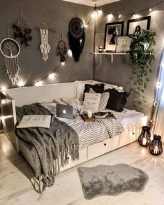 Bedroom Decor For Teen Girls, Room Ideas Bedroom, Small Room Bedroom, Bedroom Ideas For Small Rooms For Teens, Cozy Small Bedroom Decor, Cozy Teen Bedroom, Couple Bedroom, Gray Room Decor, Decorating Small Bedrooms