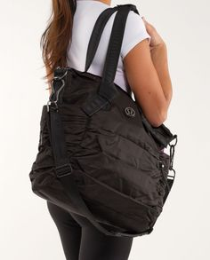 The Lululemon Bag Triumphant Gym Diaper Black Tote is a top 10 member favorite on Tradesy. Save on yours before they're sold out! Lululemon Bags, Nylon Tote, Black Tote, Black Nylons, Workout Gear, Womens Tote Bags, Fashion Bags, Shoe Bag, My Style