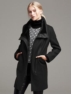 Funnel Neck Coat Product Image