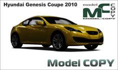 Hyundai Genesis Coupe 2010 - 3D Model (3ds, 3dm, dwg, igs, max, obj, stl, ipt, ma)