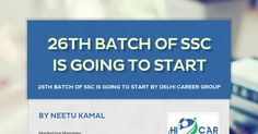 26TH BATCH OF SSC IS GOING TO START