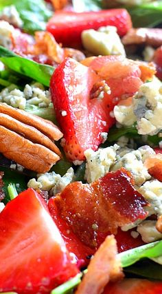 Strawberry Bacon Blue Cheese Salad