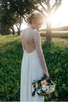Hochzeitsinspirationen in zarten Pfirsichtönen von hellbunt Events und Marie Bleyer Fotografie