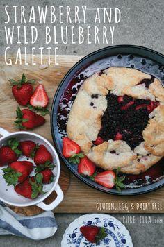 Strawberry and Wild Blueberry Galette {Gluten-Free, Vegan}
