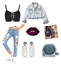 """""""jeans"""" by fluffyflavi on Polyvore featuring Vans, Hollister Co. and Lime Crime"""