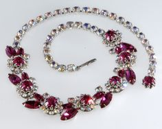 Learn How Much Your Vintage Costume Jewelry is Worth: Vendome Pink Rhinestone Necklace