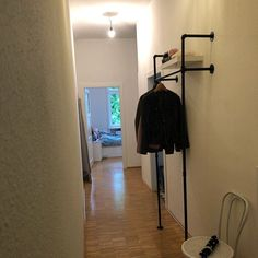 Modern Industrial, Industrial Design, Heavy Duty Clothes Rack, New York Loft, Metal Pipe, Black Water, Easy Wall, Closet Storage, Water Pipes
