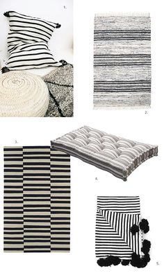 Black and white striped textiles picks by My Paradissi