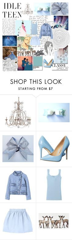 """""""Cinderella-Alternative"""" by blueangel16-001 ❤ liked on Polyvore featuring Disney, Penny Loves Kenny, Rebecca Taylor, Uniqlo and RED Valentino"""