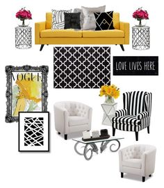 """Posh Decor"" by fashionsince1987 on Polyvore featuring interior, interiors, interior design, home, home decor, interior decorating, Universal Lighting and Decor, Dot & Bo, Jonathan Adler and Threshold"
