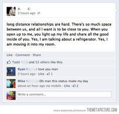 Long distance relationships are hard…