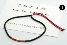 Custom pulsera de nombre de código Morse por Artlox en Etsy