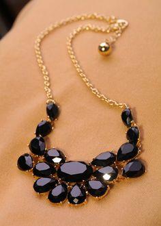 Fashion jewelry luxury gem women's short design necklace Factory Wholesale