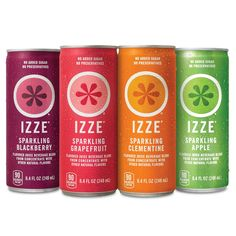 IZZE Sparkling Juice, 4 Flavor Variety Pack, 8.4 Ounce (Pack of 24) ^^ For more information, visit : Groceries