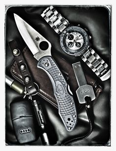 Spyderco Delica 4 Lightweight Signature Folding Knife with Flat-Ground Steel Blade and High-Strength FRN Handle - PlainEdge Grind Best Pocket Knife, Folding Pocket Knife, Folding Knives, Everyday Carry Bag, Blues Scale, Duty Gear, Edc Knife, Survival Gear, Survival Knife