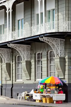 Colonial architecture in Bridgetown, Barbados, West Indies.