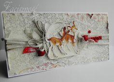 Kartka zimowa/ Winter card  #handmade #winter
