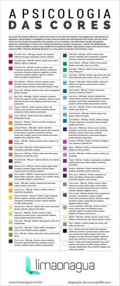 Infográfico – A psicologia das cores, uma poderosa ferramenta para designers, arquitetos e decoradores: