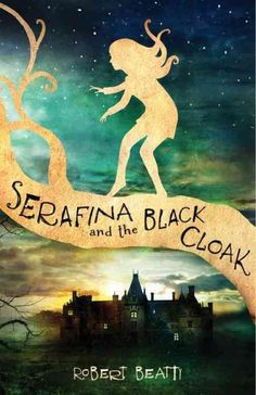 Living secretly in the basement of a grand estate where her pa works as a maintenance man, young Serafina narrowly escapes a black-cloaked man who has been abducting local children and who Serafina, aided by a youth from the estate, endeavors to expose.  Gr. 5-7.  Lexile: 850L