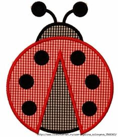 Lady Bug Applique Design Sizes hoop This design also comes with a zigzag finish in each size Applique Templates, Applique Patterns, Applique Designs, Quilt Patterns, Sewing Patterns, Machine Embroidery Applique, Applique Quilts, Sewing For Kids, Baby Sewing
