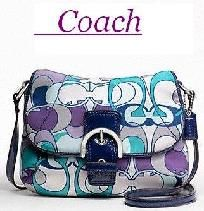 Free real hair extension- Coach Kyra scarf print flap crossbody bag - Style F46884