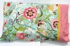 DIY pillowcase, love the fabric too!