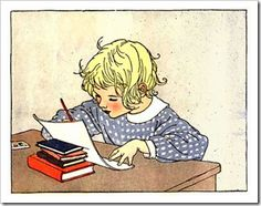 This public domain vintage illustration is free to use for personal and commercial work. No copyright restrictions Advertisements Related Kids Writing, Writing A Book, Writing Letters, Writing Prompts, Writing Skills, Essay Writing, Creative Writing, Handwriting Analysis, Handwriting Ideas