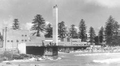 Manly's Shark Tower in the Northern Beaches region of Sydney was designed by Eric Andrew,who also designed the South Steyne Surf Pavilion and it was erected in in 🌹 Old Photos, Vintage Photos, Manly Sydney, Norfolk Pine, Avalon Beach, Local Studies, Manly Beach, Australia Beach, Historical Images