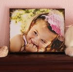 Make your own canvas print from a regular photo. So cool, much more economical and it can be personalized :)