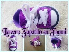 LLAVERO ZAPATITO FOAMI (GOMA EVA) - YouTube Sewing Doll Clothes, Sewing Dolls, Ag Dolls, Baby Converse Shoes, Baby Shoes, Shoe Template, Doll Videos, Foam Crafts, Doll Maker