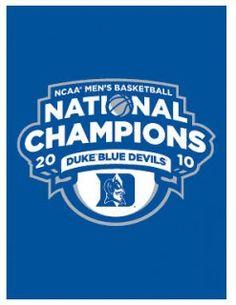 Duke Basketball 2010 Champs Banner Flag