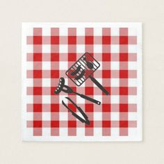 Backyard BBQ Fathers Day Party Paper Napkins