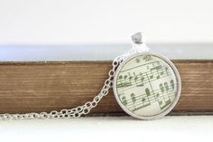 Vintage  sheet music necklaces in your wedding colors...perfect for bridesmaids!