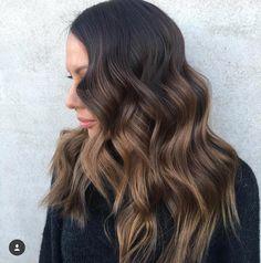 dark+brown+hair+with+light+brown+balayage