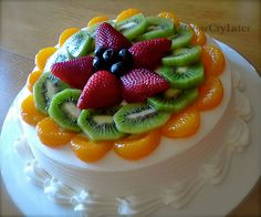 Chinese Fruit filled sponge cake