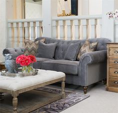 """Elizabeth Sofa from Downeast $799.99 Westport.  94"""" long x 39""""w x 40"""" h.  This is the one I want! Mid- March.  Similar to Victoria set."""