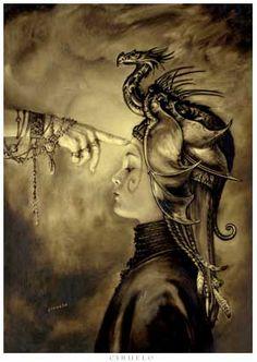 Initiation Artwork by Ciruelo Cabral Guerrero Tattoo, Dragon Oriental, Full Moon In Libra, Spiritual Warrior, Spiritual Awakening, Legends And Myths, Dragon Knight, Canvas Prints, Art Prints