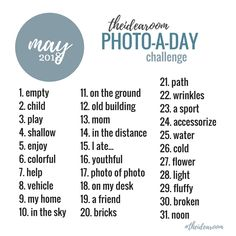 May Photo Of The Day Challenge 2018 - The Idea Room