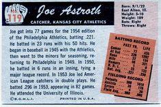1955 Bowman #119 Joe Astroth Back