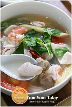 Tom Yum Talay (Hot And Sour Seafood Soup)