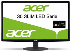 Acer S240HLbid 24 inch Full HD widescreen LCD monitor with LED Backlight (16:9, 100,000,000:1, 1920 x 1080, 5ms, HDMI/DVI) - Black